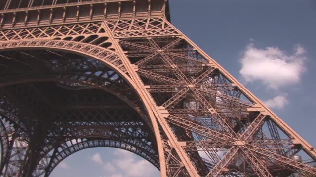 ms tu view of eiffel tower / paris / paris, ile de france, france  - ile de france stock videos and b-roll footage