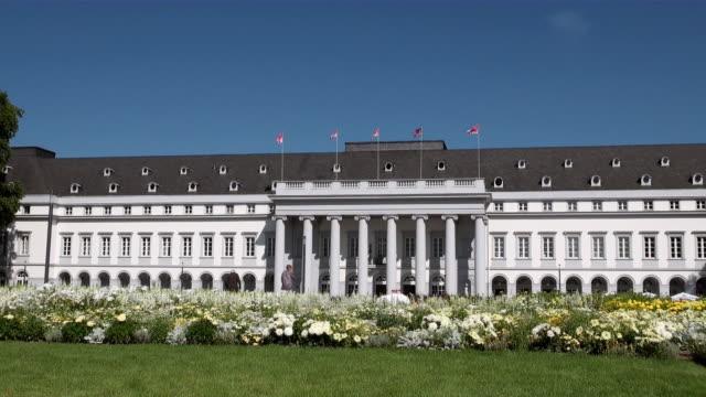 MS View of electoral palace / Koblenz, Rhineland-Palatinate, Germany