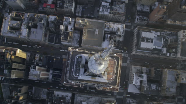 'MS TD AERIAL View of Empire State Building  / New York City, United States'