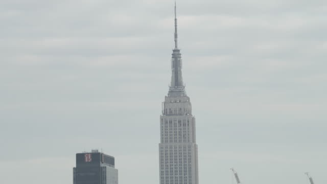 MS ZO AERIAL View of empire state building / New York City