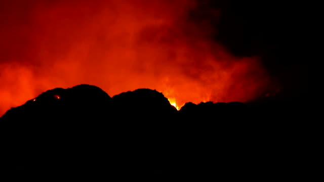 view of erta ale volcanic activity (active basaltic shield volcano) at ethiopia - ale stock videos & royalty-free footage