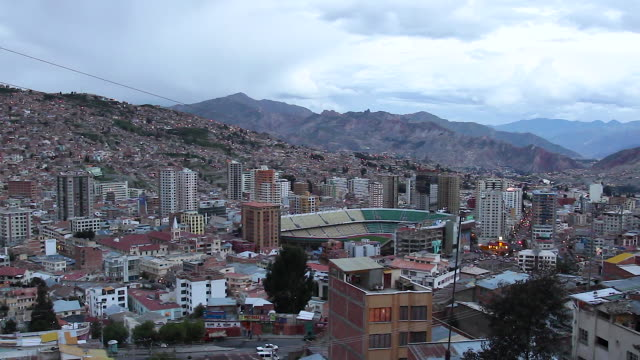 view of estadio olympico /la paz, bolivia - ボリビア点の映像素材/bロール