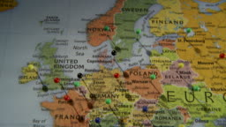 Cu pan view of australia in world map atlanta georgia stock footage view all gumiabroncs Gallery