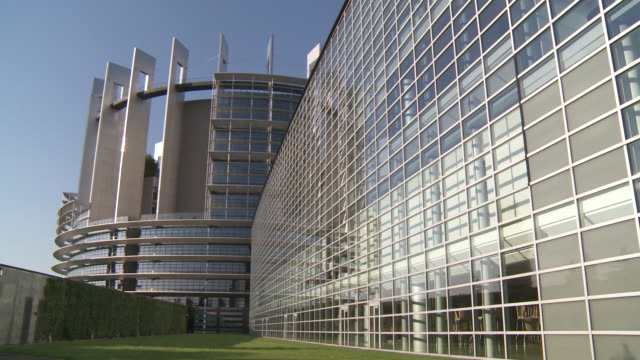 MS PAN View of european parliament / Strasbourg, Alsace, France