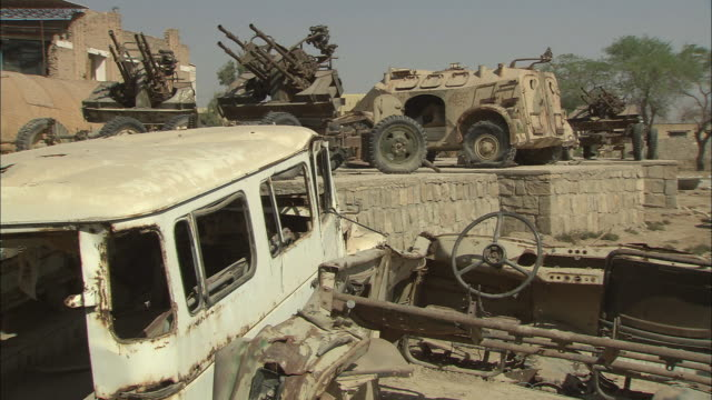 ws view of expired military equipment / khorramshahr, khuzestan province, iran - iran stock videos and b-roll footage