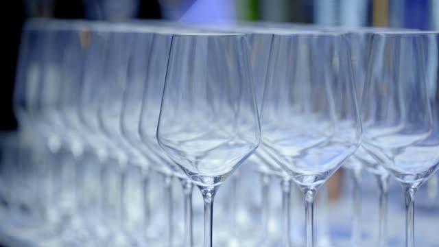 View of exquisitely arranged empty glasses in Jongno-gu
