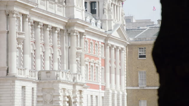 WS View of Exterior of Horseguards pillars / London, United Kingdom