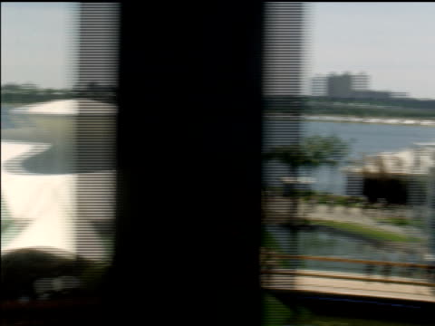 ha view of fairgrounds from monorail as it travels around world's fair - world's fair stock videos and b-roll footage