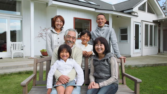 MS View of family / Fujikawaguchiko, Yamanashi, Japan