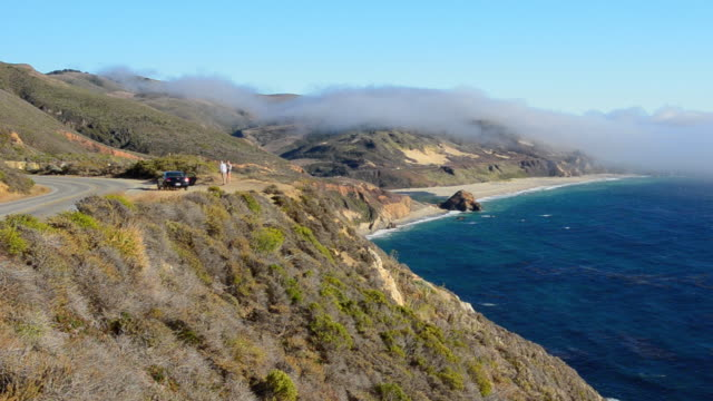 WS View of famous road near Big Sur and Garrapata State Park with rugged coast / Pacific Coast Highway, California, United States