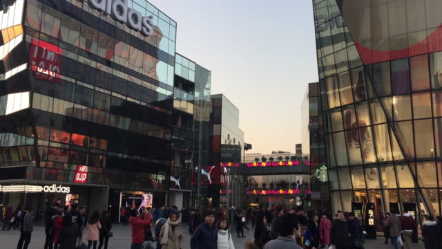 A view of famous Sanlitun Business District on Feb 9 2016 at Beijing China