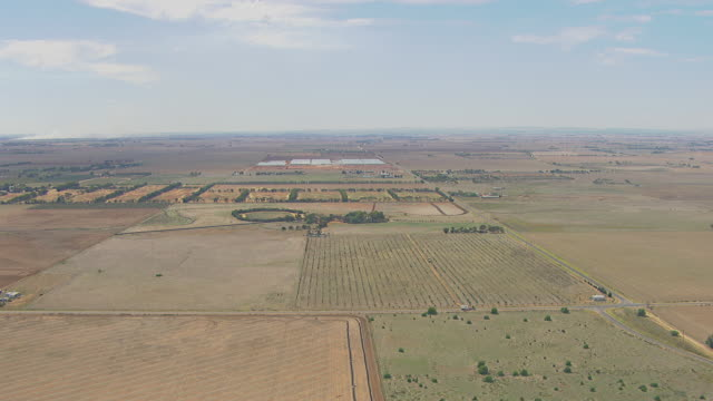 WS AERIAL View of farming and agriculture area / Adelaide, South Australia, Australia