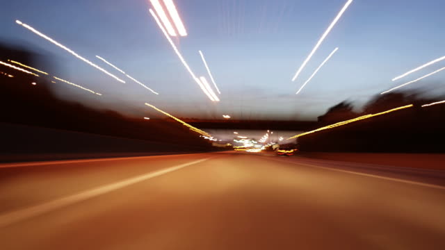 ws view of fast moving traffic on motorway at night  /antwerp, antwerp, belgium - car point of view stock videos and b-roll footage