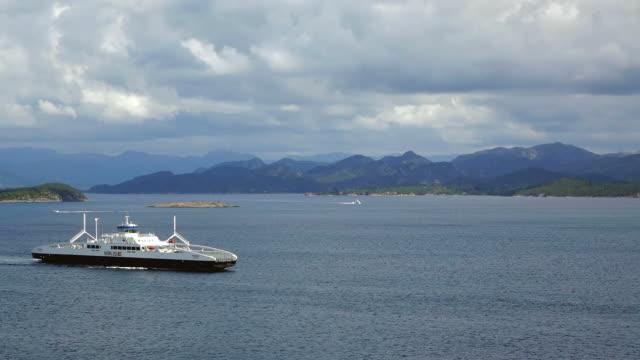 WS View of Ferries at Stavanger Fjord / Stavanger, Rogaland, Norway