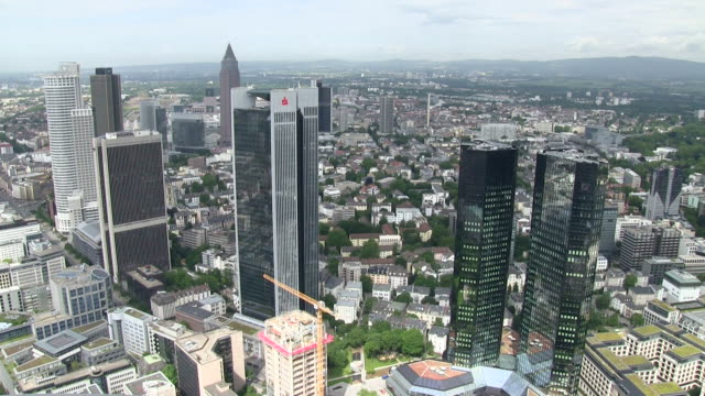 WS View of  financial district / Frankfurt/Main, Hesse, Germany