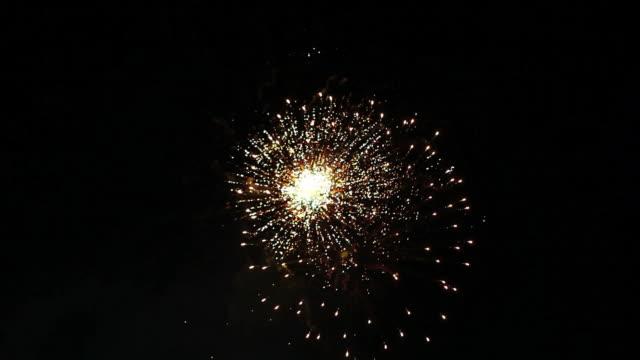 MS View of fireworks at river / Ryougoku, Tokyo, Japan