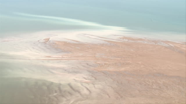 aerial ws view of flathead lake river delta in montana / flathead, montana, usa - flathead lake stock videos and b-roll footage