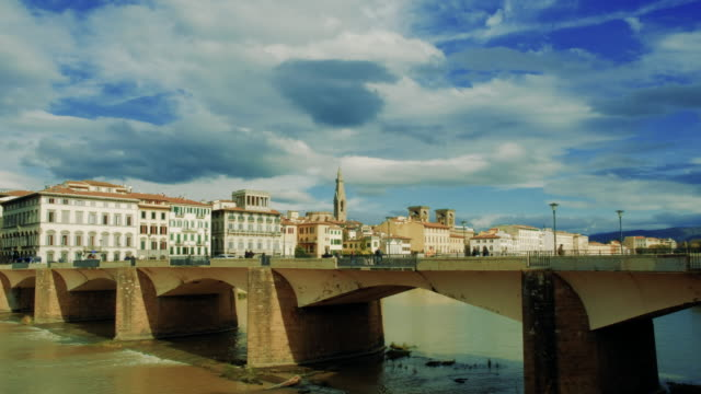 view of florence cityscape against sky - florence italy stock videos & royalty-free footage