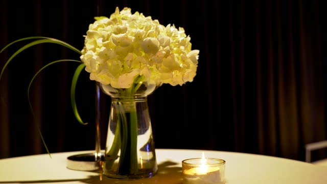 View of flower in a vase and a candle in a table in Jongno-gu