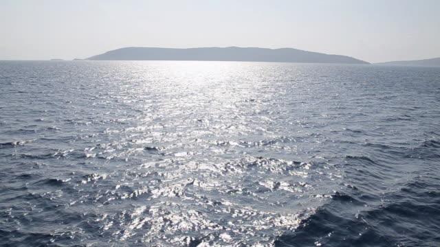 WS TD View of flowing waves in ocean / Losinj, Island of Losinj, Croatia