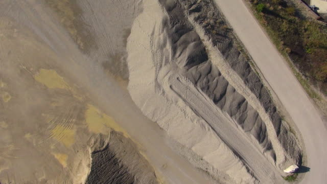 MS AERIAL View of fly over gravel quarry / Haag, Bavaria, Germany