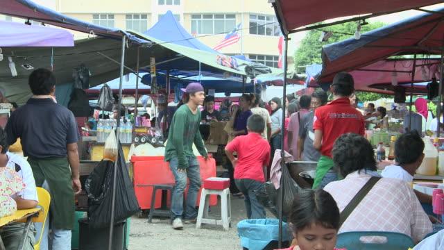 MS T/L View of Food market / Kota Kinabalu, Sabah, Malaysia