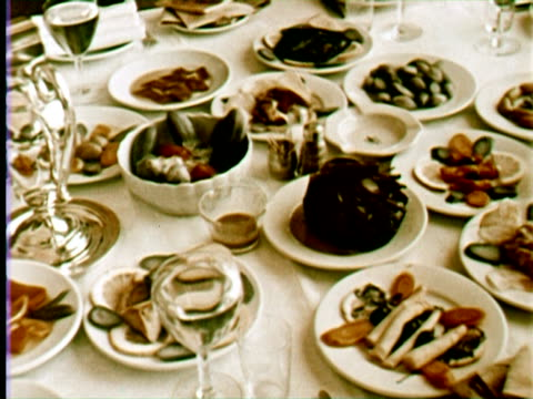 ms cu view of foods, beruit, lebanon / audio - silver service stock videos & royalty-free footage