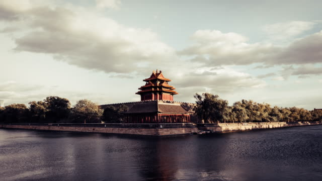 t/l view of forbidden city / beijing, china - forbidden city stock videos & royalty-free footage
