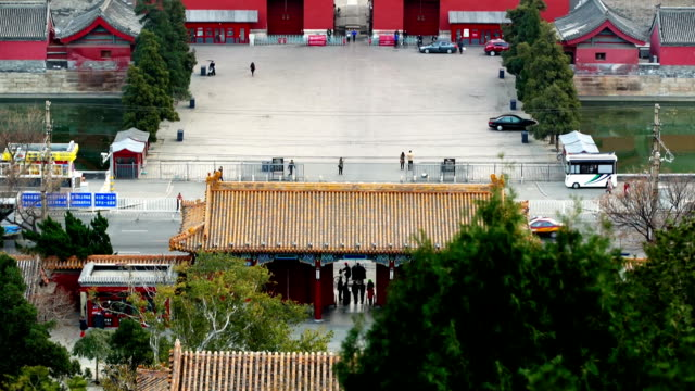 a view of forbidden city from jingshan park - orthographic symbol stock videos and b-roll footage