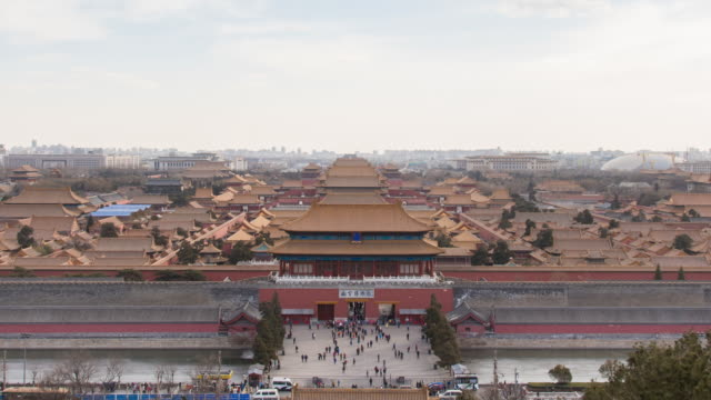 stockvideo's en b-roll-footage met a view of forbidden city from jingshan park - verboden stad