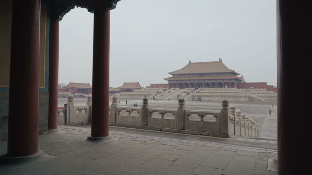 view of forbidden city,beijing,china. - communism stock videos & royalty-free footage