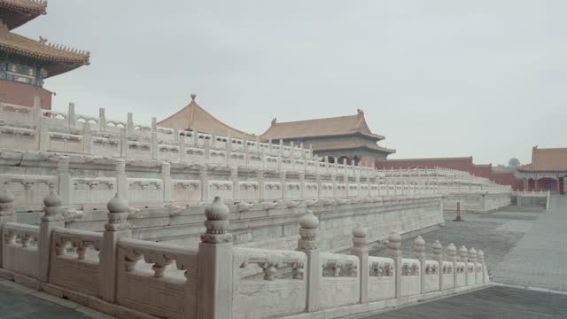 view of forbidden city,beijing,china. - tiananmen square stock videos & royalty-free footage