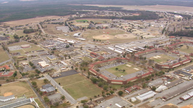 ws aerial view of fort benning / georgia, united states - fort benning video stock e b–roll