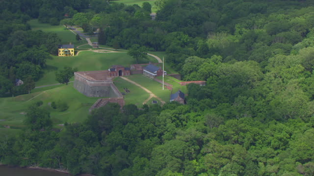 ws aerial pov view of fort washington / prince georges county, maryland, united states - prince stock videos and b-roll footage