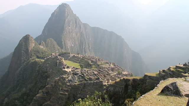 WS View of Fort with mountains / Machu Picchu, Peru