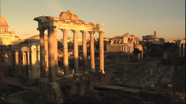 WS T/L View of Forum Romanum / Rome, Italy