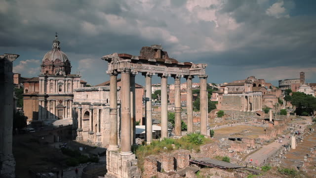 WS T/L View of Forum Romanum / Rome, Lazio, Italy