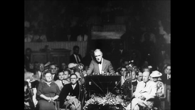 vídeos y material grabado en eventos de stock de ws view of  franklin d roosevelt conference  for peace audio / washington,district of columbia,united states - franklin roosevelt
