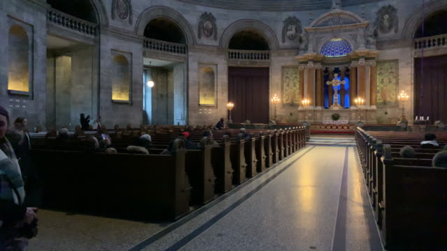 a view of frederik's church popularly known as the marble church in copenhagen denmark on december 15 2018 - oresund region stock videos & royalty-free footage