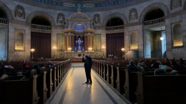 a view of frederik's church popularly known as the marble church in copenhagen denmark on december 15 2018 - december stock videos & royalty-free footage