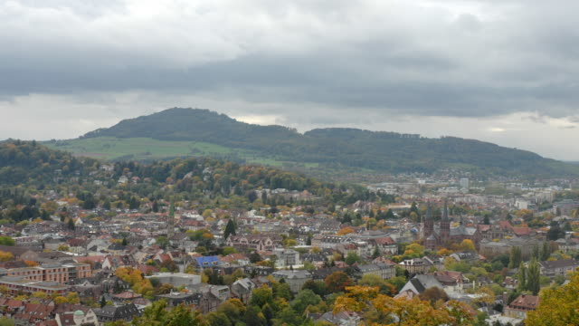 t/l, ws, ha, view of freiburg, baden-wurttemberg, germany - horizon stock-videos und b-roll-filmmaterial