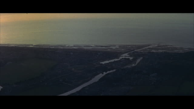 aerial view of french countryside near seine river / paris, france - coastal feature stock videos & royalty-free footage