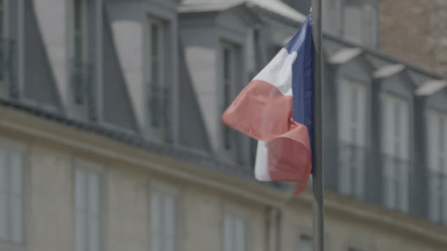 ms view of french flag / paris, france - french flag stock videos & royalty-free footage