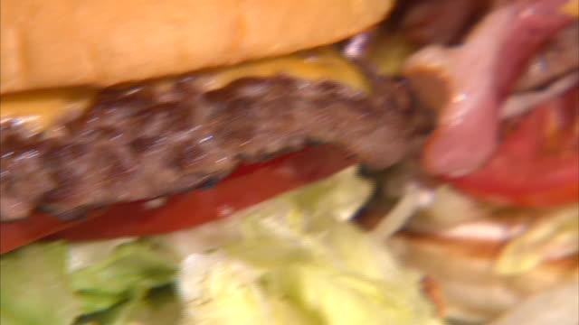 View of fresh hamburger