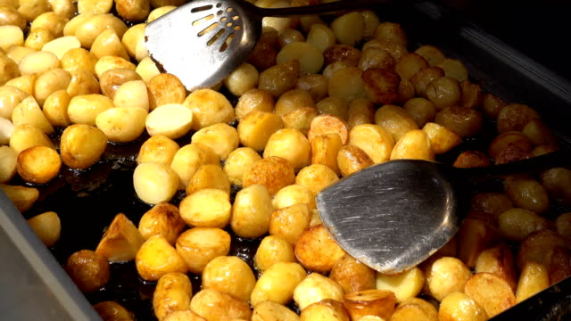 a view of fried potato chinese snacks on may 20 2017 in shanghai china - fried potato stock videos and b-roll footage