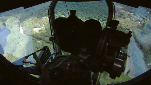 aerial ws view of from b-24 bomber over countryside / boston, massachusettes, united states - bomber plane stock videos and b-roll footage