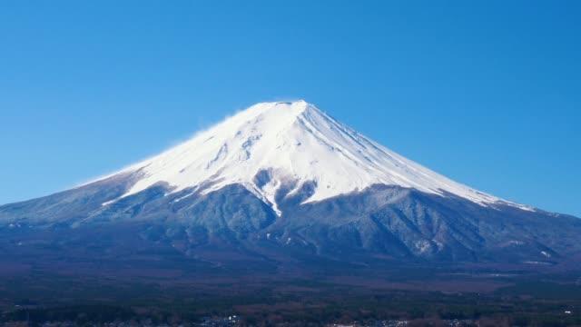 churetio パゴダ周辺の富士山の眺望濃淡の動き - 山梨県点の映像素材/bロール