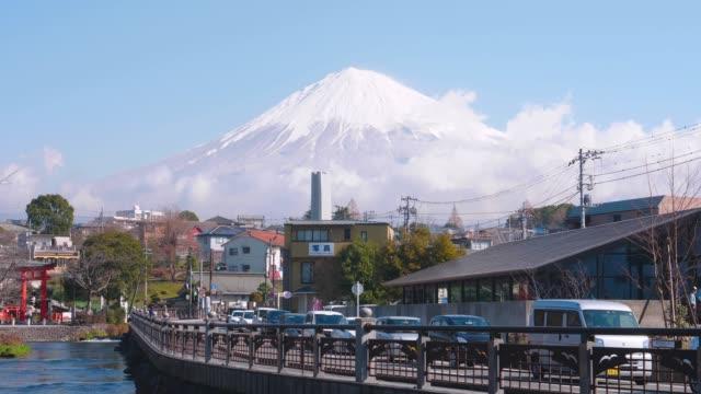 静岡県富士宮市の富士山の眺望 - 山梨県点の映像素材/bロール
