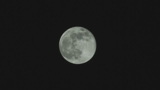 ws view of full moon at night / orem, utah, usa - orem video stock e b–roll
