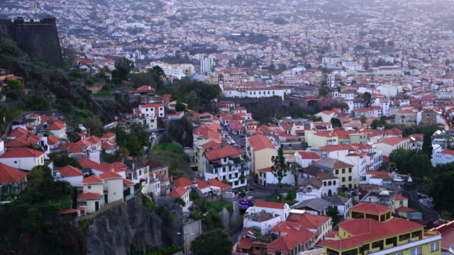 View of Funchal City at sunset